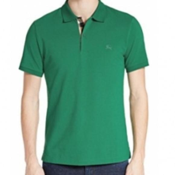 burberry green polo shirt